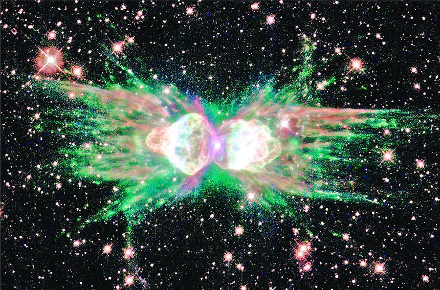 射出罕見激光的螞蟻星雲  或隱藏神秘伴星