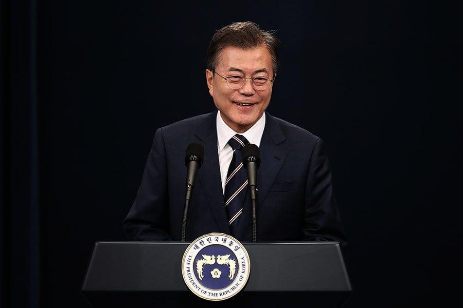 南韓官員:文在寅或加入特金會 舉行三方會談