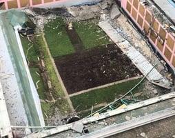 城大綜合會堂塌天台 三人受傷送院