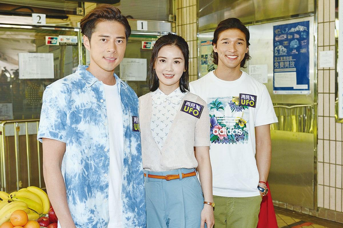 蔡卓妍(中)、徐天佑(左)、黃又南(右)16年後再度合作。(宋碧龍/大紀元)