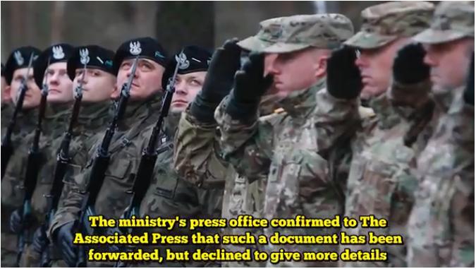 波蘭正尋求美軍在波蘭永久部署,作為應對俄羅斯的威懾力量。(視像擷圖)
