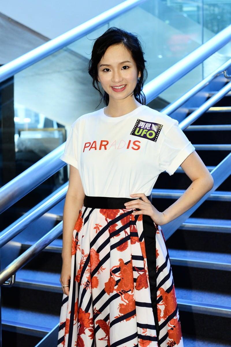 梁雍婷有份參與拍攝新戲《再見UFO》感開心。(宋碧龍/大紀元)
