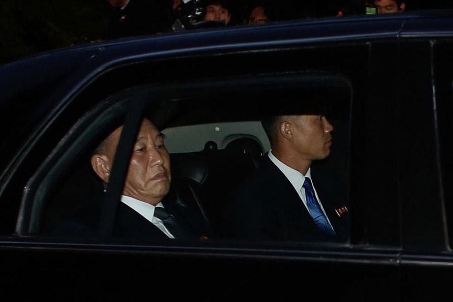 朝鮮勞動黨副委員長、北韓的特務頭子金英哲,作為金正恩的特使,5月30日抵達了紐約。(KENA BETANCUR/AFP/Getty Images)