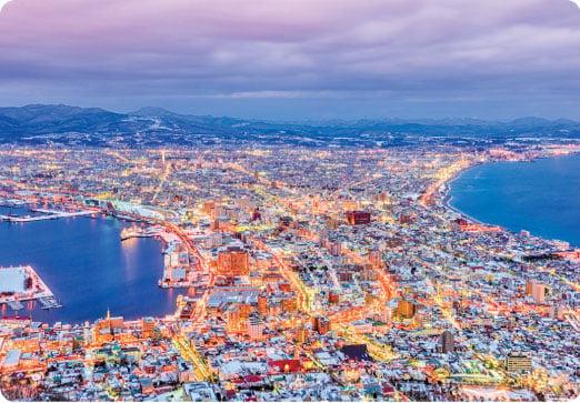 函館夜景被日本人譽為「百萬石夜景」。(Fotolia)