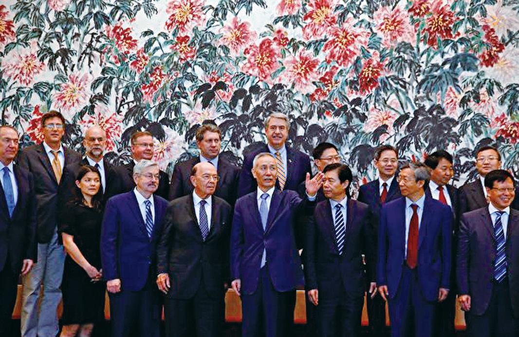 中美高層北京第三輪貿易磋商周日談判結束時,雙方並未就此次談判發表聯合聲明。(Getty Images)