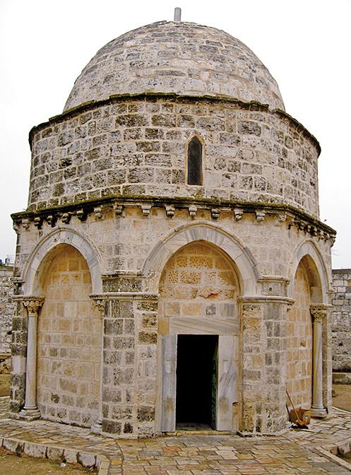 耶穌升天小堂(Chapel of the Ascension)位於橄欖山頂,相傳為耶穌在此升天。(adriatikus/Wikimedia Commons)