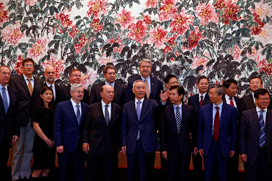 美國商務部長羅斯周六(6月2日)抵達北京,展開和中國的第三輪貿易談判。周日談判結束時,雙方並未就此次談判發表聯合聲明。(ANDY WONG/AFP/Getty Images)