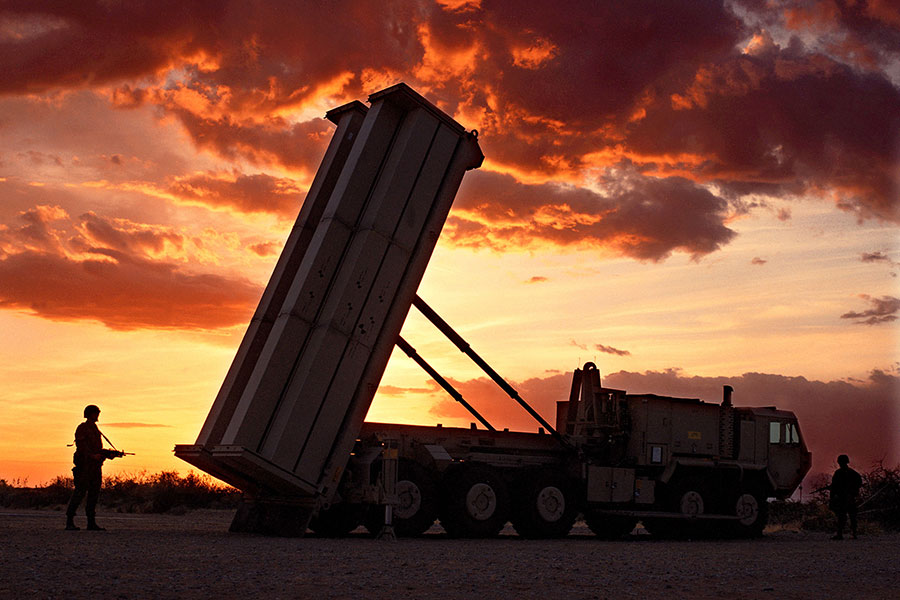 6月底五角大樓宣佈,美國將繼續改進部署在南韓的「終端高海拔地區防禦系統」(THAAD)。(Lockheed Martin/Getty Images)