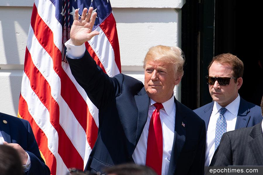 上周五,美國總統特朗普宣佈,他跟金正恩 6月12日在新加坡舉行的兩國首腦會談重新開始。圖為特朗普總統。(Samira Bouaou/The Epoch Times)