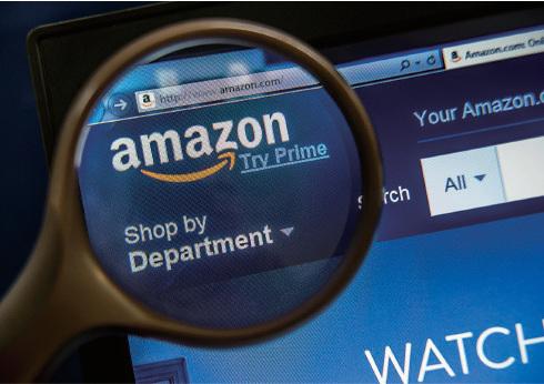 亞馬遜的股價屢創新高與假期線上銷售亮麗有關。該公司28日宣稱其Prime會員人數已達數百萬人,其市值達3,100億美元。(AFP/Getty Images)
