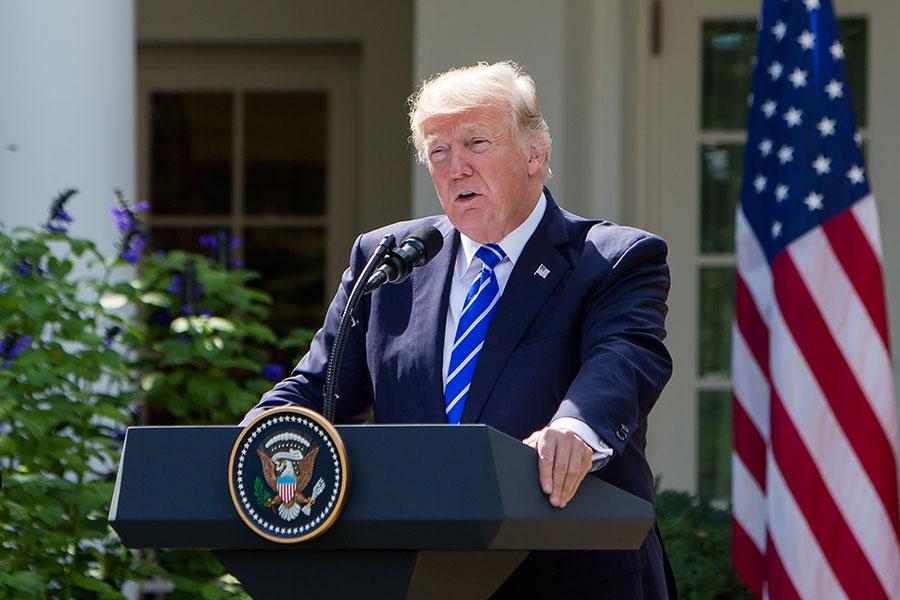5月24日,美國總統特朗普宣佈取消特金會。此前,特朗普多次暗示中共攪局特金會。他說,金正恩第二次訪華後事情就出現了變化。(Samira Bouaou/大紀元)