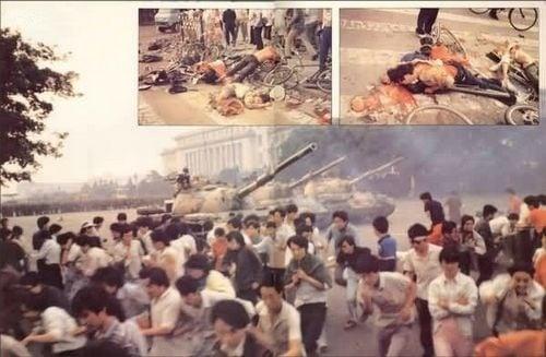 在29年前的1989年6月3日晚間至6月4日凌晨,中共調集20多萬的戒嚴部隊進行血腥鎮壓,在坦克和裝甲車的掩護下,開槍屠殺手無寸鐵的學生和北京市民。(網絡圖片)