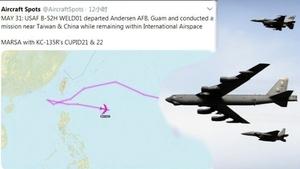 美軍B-52轟炸機40天內四訪南海