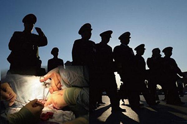 國際皆知,中共不得不選擇承認死囚器官用於移植,只是因為活摘法輪功學員器官的黑幕再也掩蓋不住了。(新紀元合成圖)
