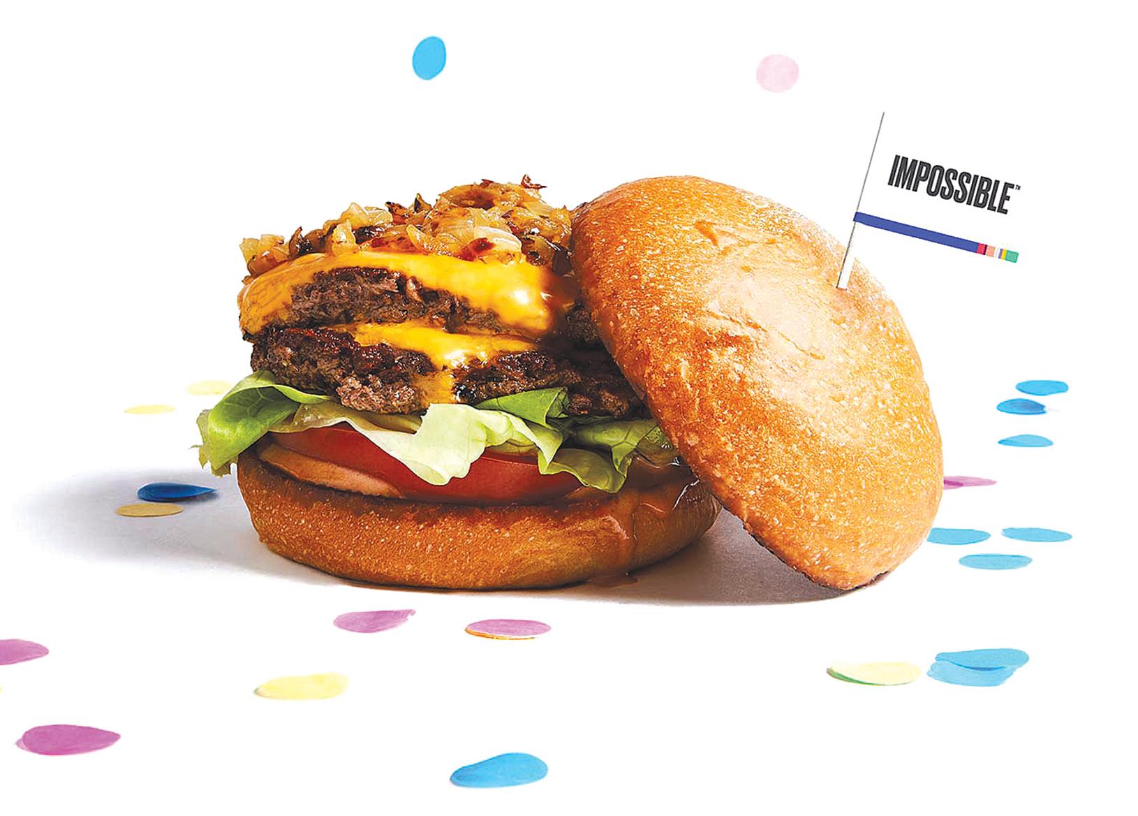 硅谷一家企業推出了全素漢堡產品。(Impossible Foods)