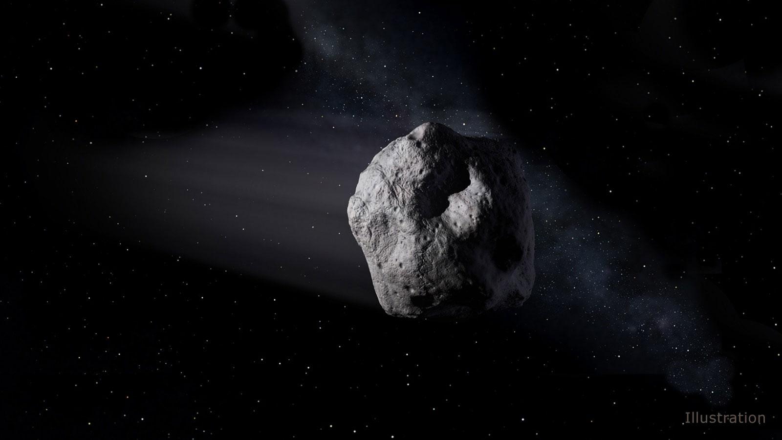 一顆直徑2米、編號為「2018 LA」的小行星6月2日墜落地球,並在非洲上空解體。(NASA/JPL-Caltech)