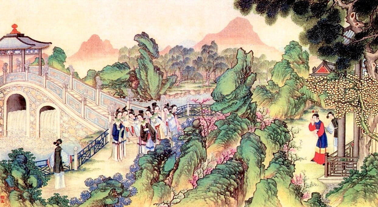 清代孫溫繪製《紅樓夢》圖畫。(公有領域)