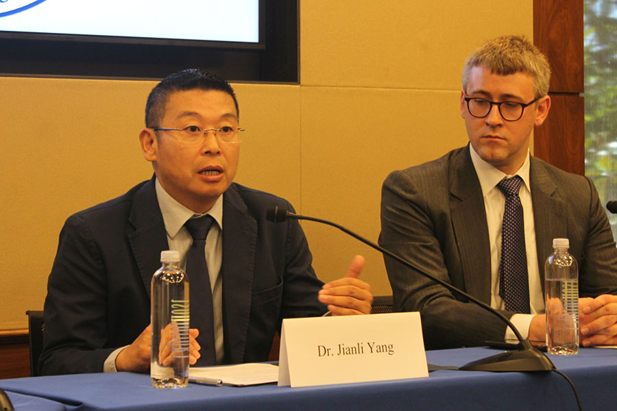 「公民力量」發起人楊建利博士表示,國際國內的變化,使得中國的民主化有了前進一步的可能。(林樂予/大紀元)