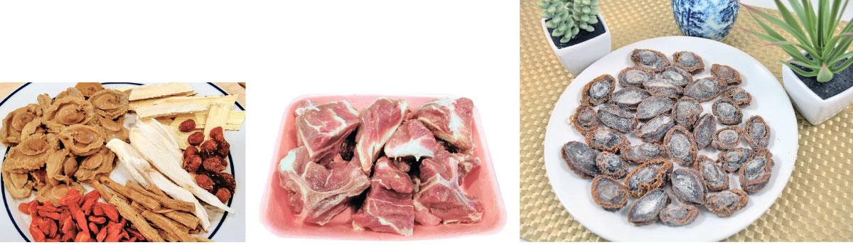 豬骨、乾鮑魚經過處理後,是美味又健康的食材。