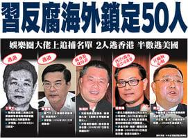 習反腐海外鎖定50人
