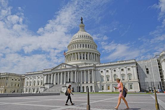 圖為美國國會。(AFP)