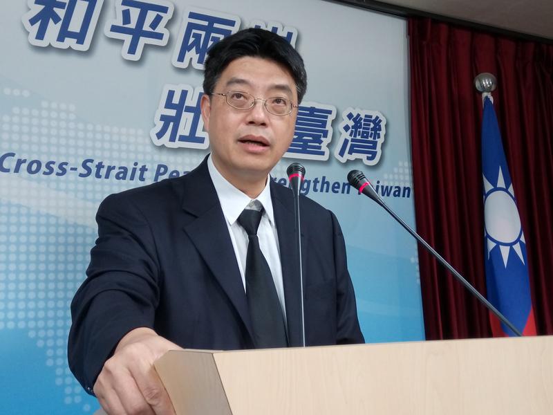 陸委會副主委兼發言人邱垂正資料圖片。(中央社)