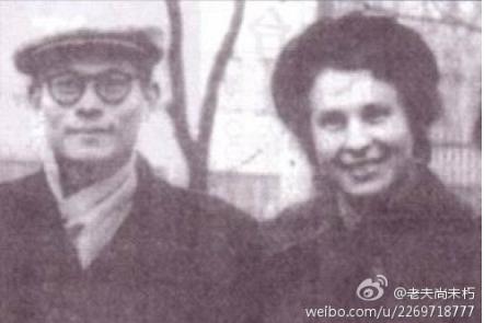 年輕時的江澤民與其俄羅斯情婦。(網絡圖片)
