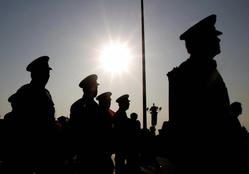 北京當局日前任命秦衛江為東部戰區副司令員、傅勇為東部戰區陸軍副司令員。(AFP/Getty Images)