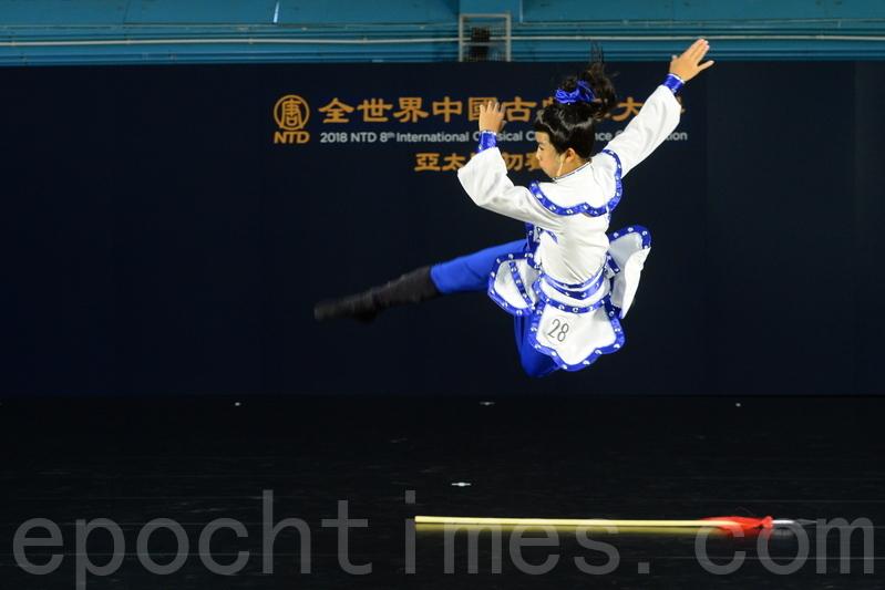 少年男子組選手陳法恩演繹北宋抗遼名將楊延昭。(宋碧龍/大紀元)