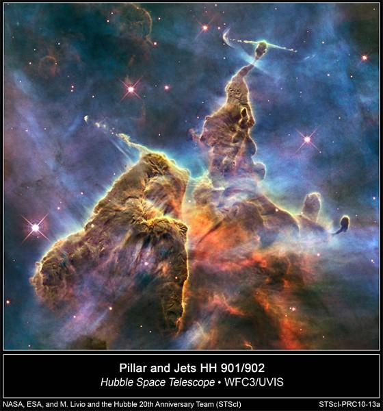 美國太空總署為紀念哈勃20周年發佈的太空照片。(NASA)