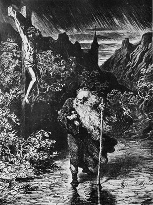 《流浪的猶太人》古斯塔‧多雷(Gustave Doré),19世紀。(公有領域)
