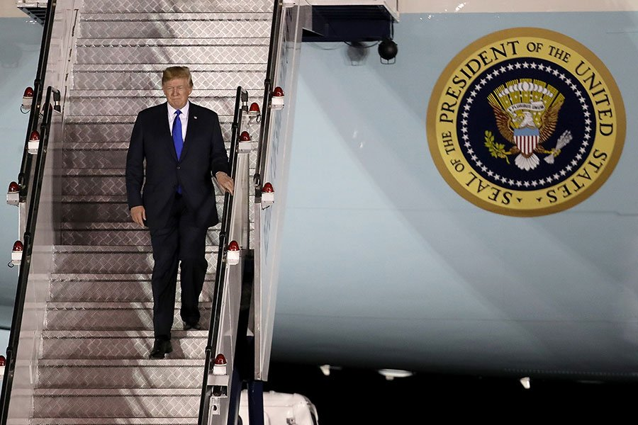 一名資深共和黨參議員和參議院軍事委員會委員敦促國會,如果特金會失敗,授權特朗普總統對北韓採取軍事行動。(Win McNamee/Getty Images)