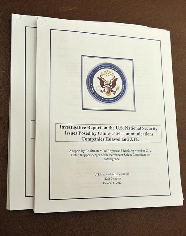 2012年,一份國會報告稱,華為和中興通訊設備在美國關鍵基礎設施中的使用,「可能會削弱美國國家安全核心利益」。(MANDEL NGAN/AFP/Getty Images)