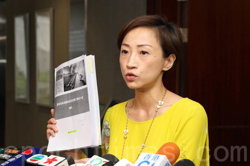 陳淑莊認為調查委員會有法定權力,成為「有牙老虎」,建議擴闊調查範圍,不要令調查委員會綁手綁腳。(蔡雯文/大紀元)