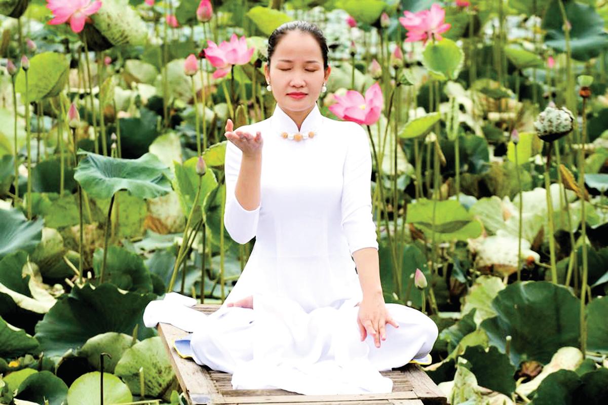 Nguyen Thi Tuoi練習法輪功第五套功法——神通加持法。(本人提供)
