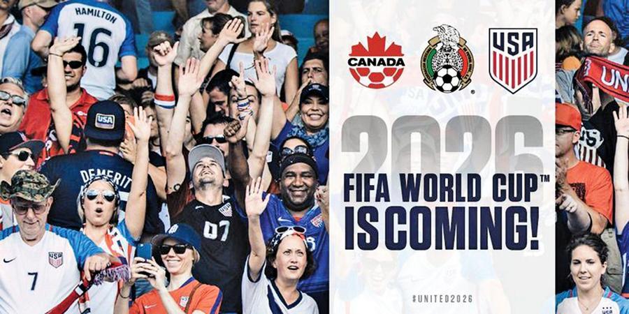 2026年世足賽 美、加、墨合體取得主辦權