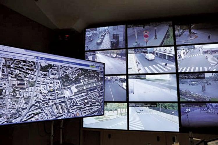 曼提斯錄像機可以拍出系列監控城市和路面的畫面。(Getty Images)