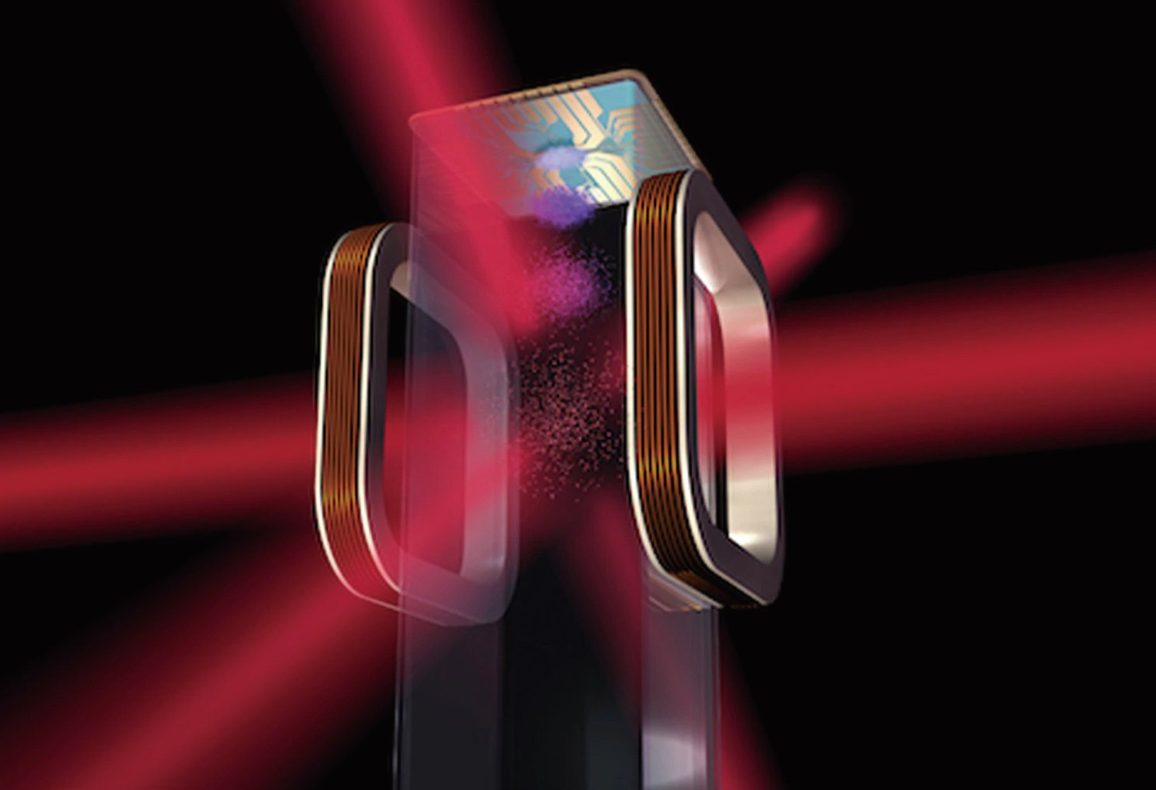 NASA在國際空間站利用激光產生超低溫的示意圖。(NASA)