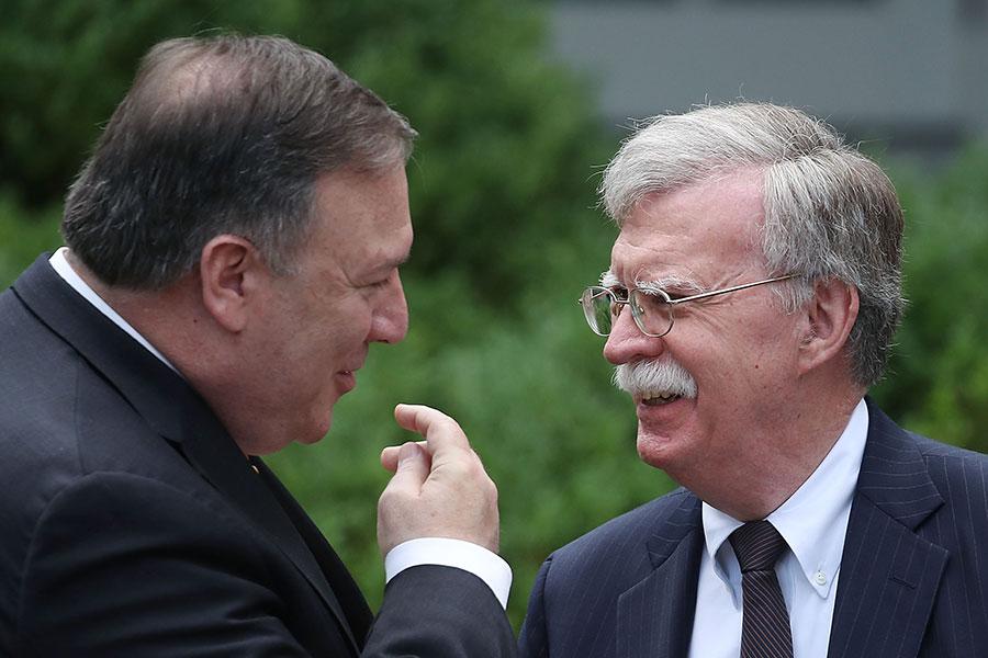 蓬佩奧和國安顧問博爾頓下周將跟北韓官員會晤,討論棄核細節。(Mark Wilson/Getty Images)