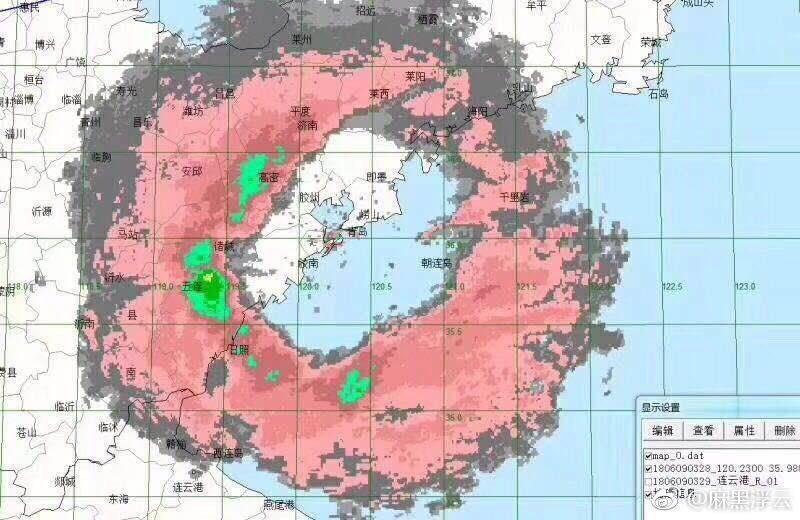 上合峰會過後,青島遭遇極端天氣。(網頁擷圖)