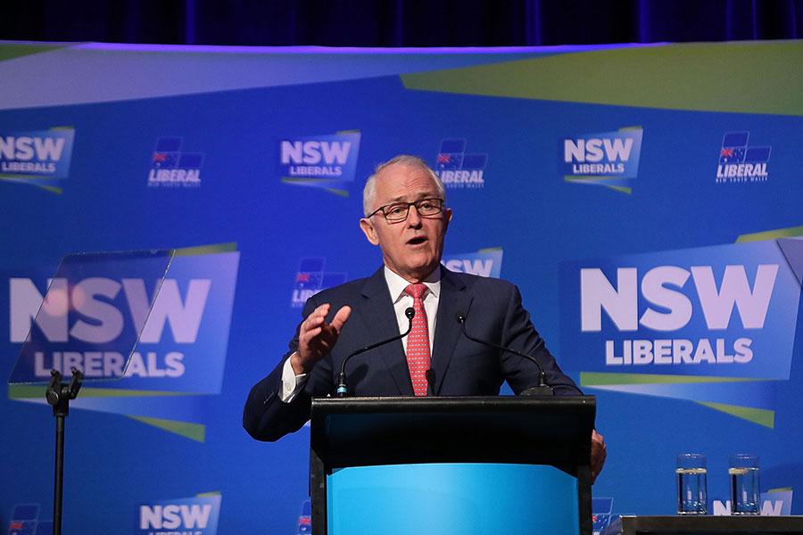 澳洲總理特恩布爾曾下令針對外國干預澳洲政治進行過一項調查。在這份調查報告中對過去十年來中共政府企圖影響澳洲的政黨深表擔憂。圖為特恩布爾。(Mark Metcalfe/Getty Images)