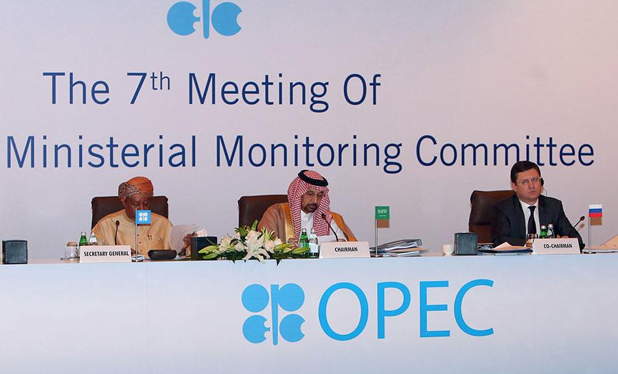 2018年1月21日OPEC聯合部長級監測委員會在馬斯喀特舉行第7次會議。(MOHAMMED MAHJOUB/AFP/Getty Images)