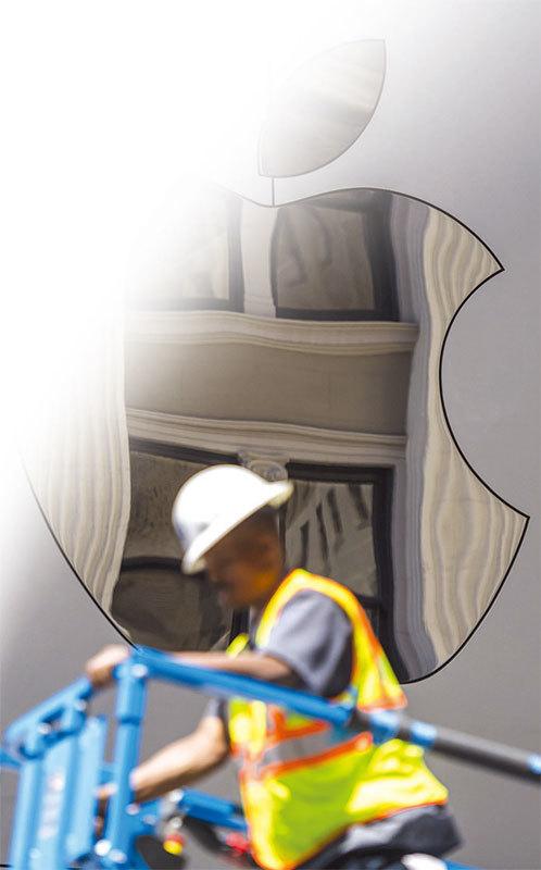 蘋果公司在三藩市新建的旗艦店。(大紀元資料室)