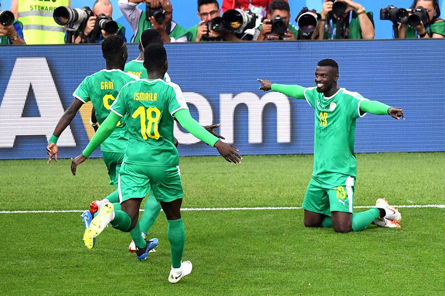 塞內加爾全場控球時間多達58%,取得勝利是情理之中的事。(Laurence Griffiths/Getty Images)