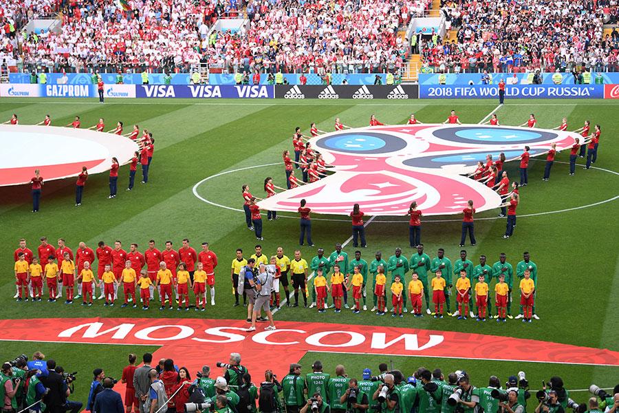 2018年俄羅斯世界盃F組首輪最後一場比賽在莫斯科斯巴達克球場展開爭奪。(Laurence Griffiths/Getty Images)