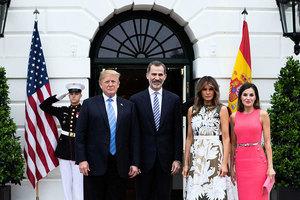 特朗普在白宮會晤西班牙國王菲利普