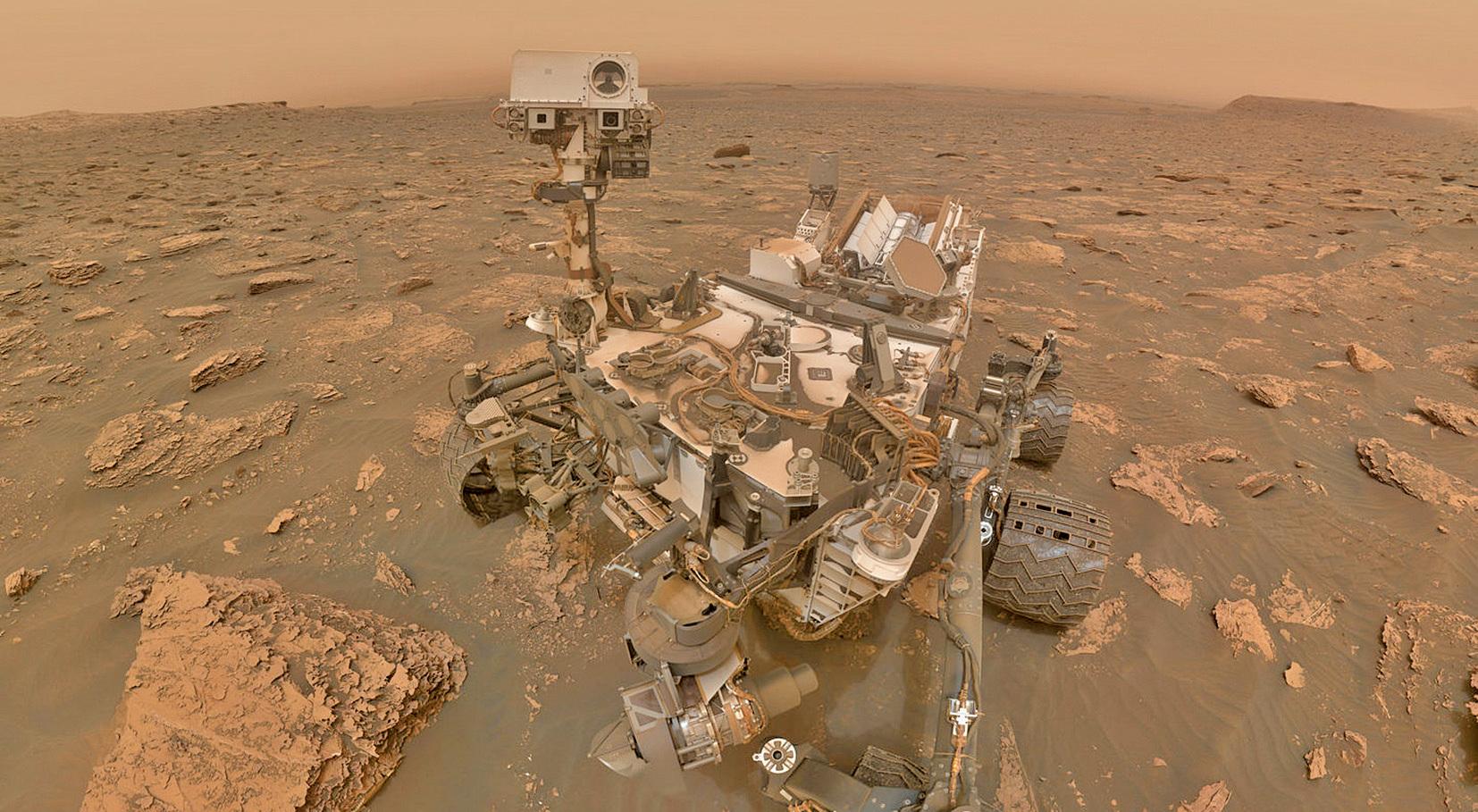 美國太空總署(NASA)的火星探測器近日遭遇惡劣天氣,一場大規模沙塵暴正在吹襲火星。(NASA)