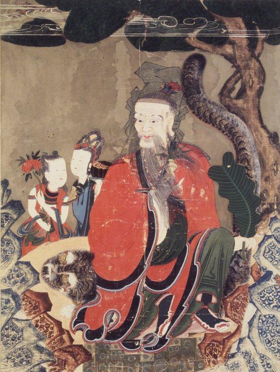 「地祇」包括社神、山神、水神、火神等所有地界的神靈。圖為山神。(公有領域)