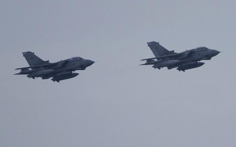 北方航天公司(Northern Aerospace)為英國皇家空軍和美國空軍製造飛機機翼的部份零件和一系列無人機。圖為英國空軍的龍捲風戰鬥轟炸機。(AFP)
