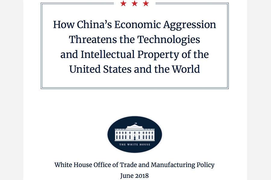 貿易戰升溫 白宮發佈報告詳列中共經濟侵略